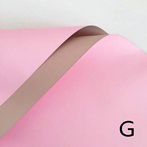 20st Koreaanse bloemen Tweekleurige papieren verpakking Cadeaupapier Neutrale kleur Bloemist Inpakpapier Boeket benodigdheden, 7