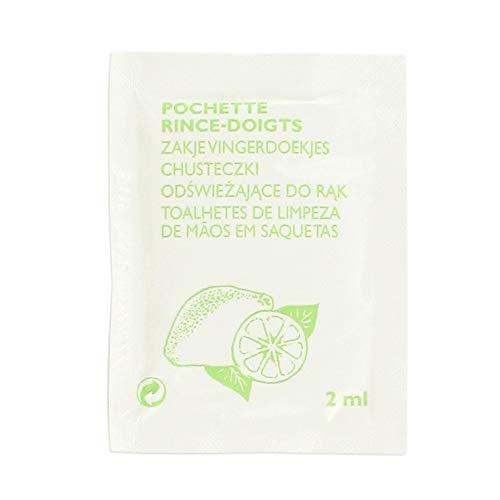 Fackelmann 3652250 Lot de 15 rince-Doigts au Citron, Papier, Gris, 15 x 7 x 5 cm