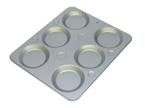 G & S Metal Products Company OvenStuff Nonstick 6-Cup Muffin Caps Baking Pan, 13.5'' x 11.5'', Gray