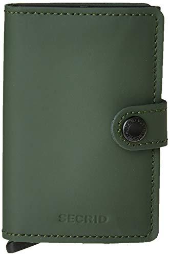 Secrid portafogli Miniwallet - Verde - MM.GREEN-BLACK - Verde - UNICA