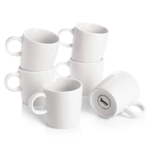 Sweese 409.001 Porcelain Espresso Cups - 3.5 Ounce - Set of 6, White
