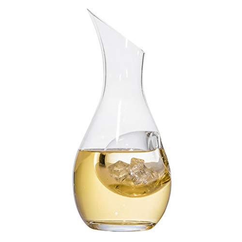 Décanteur, Soufflé à La Main en Verre Cristal Sans Plomb Aérateur de Vin, Cristal Pour Bec Verseur, Carafe de Vin Rouge, Vin Cadeau, Accessoires Pour Le Vin, Détient Vin 1100ML - Cadeau Parfait
