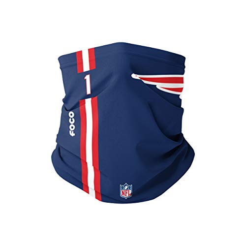 Forever Collectibles UK Cam Newton New England Patriots - Sciarpa da uomo con logo