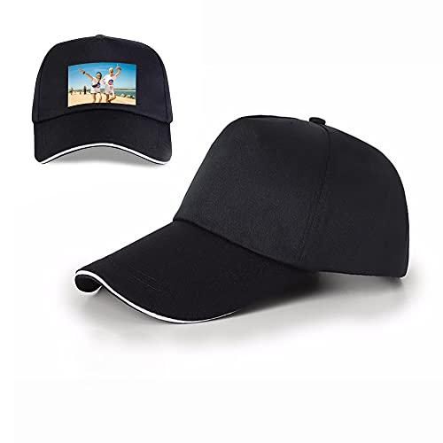 Gorra de béisbol Personalizada con Visera, Gorra de Verano para el Sol, Gorra de Golf para papá, Foto Personalizada, algodón Ajustable, clásico, Deportivo, Informal, Unisex