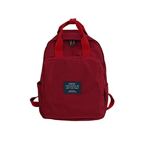 Große Tasche Tragbaren Rucksack Mode Wilden Grünen Kleinen Standard Rucksack Weiblichen Wasserdichten Nylon Campus Tasche 2 28 * 12 * 36Cm