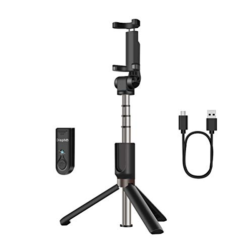 AFAITH Extendable Handheld Monopod Selfie Stick with Wireless Remote Shutter Compatible with iPhone Xs/XS max/X/8/8P/7/7P/6s/6, Galaxy S9/S9 Plus/S8/S7/S6/S5/Note 9/8