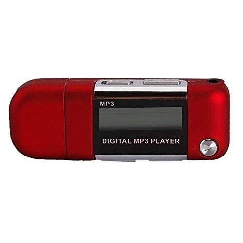 Andylies Reproductor de MP3 Reproductor de MúSica Disco U de 4GB Compatible con BateríA AAA Reemplazable, GrabacióN (Rojo)