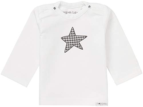 Noppies Noppies Unisex - Baby T-Shirt U Tee Ls Melanie, Einfarbig, Gr. Neugeborene (Herstellergröße: 50), Weiß