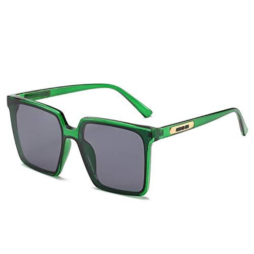 UKKD Vintage Cuadrado De Gran Tamaño Gafas De Sol Mujeres Hombres Transparente Gradiente Gafas De Sol Gran Marco Gafas Uv400