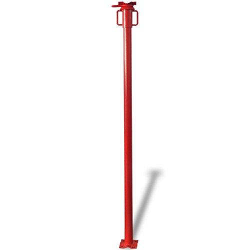 Festnight Stahl Bausprieß Stahlstütze Verstellbare Höhe 166-280 cm Belastbar bis 900 kg Rot