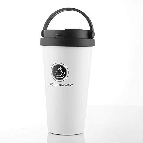 YAeele Taza Termo de café Vaso con Tapa de Sello de vacío Thermocup Botellas portátil de Acero Inoxidable Frascos Thermo Taza de Agua Regalo
