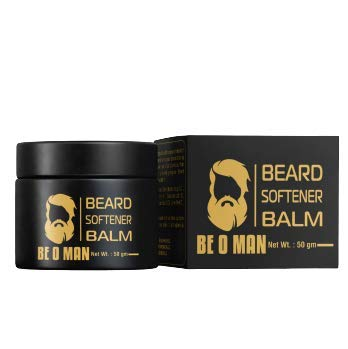 Beoman Beard Softener Balm, 50g, With Shea butter and Natural oils, Nourishes and Conditions the hair, Paraben free