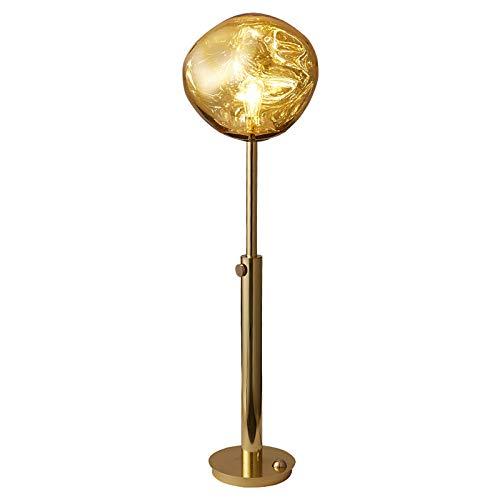 sandy Lámpara Pie LED, Pantalla de Lava de PVC, Lámpara Decorativa Interior de Luz Cálida, Ideal para Dormitorio o Sala de Estar,Rose Gold