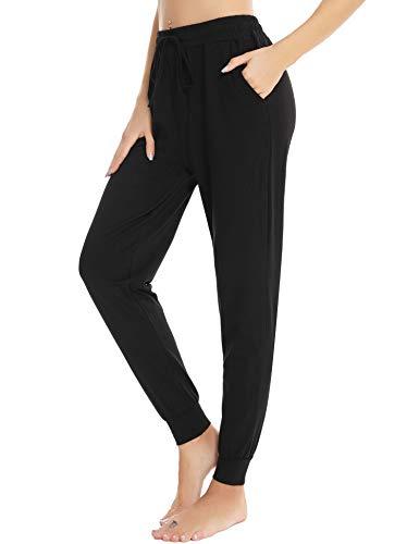 ARBLOVE Pantaloni da Pigiama da Donna Lunghi Cotone, Donna Pigiama Pantaloni da Notte per Casa Sportivi Casual