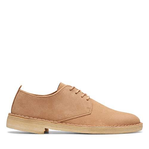 Mens Clarks Originals Desert London Suede Shoes in Light Tan.