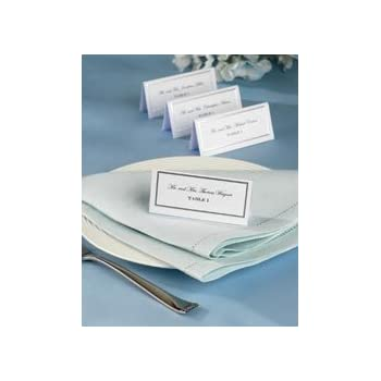 Wilton Silver Border Place Cards