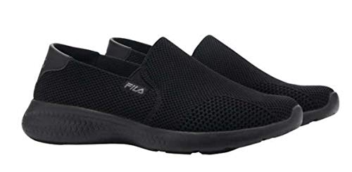 Fila Zapato sin cordones de punto para mujer., negro (Negro), 40 EU