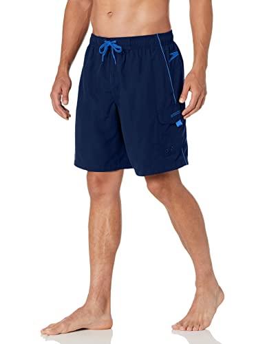 Speedo Men's Swim Trunk Knee Length Marina Volley, Navy, Large