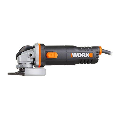 WORX WX712 Winkelschleifer 125mm, 860 W – Kompaktes Schleifgerät mit verstellbarem Griff plus vibrationsfreiem Zusatzhandgriff zum Schleifen & Schneiden