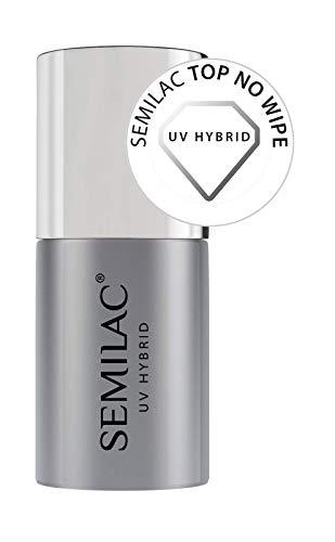 Semilac Top No Wipe UV Hybrid Nagellack, 7 ml