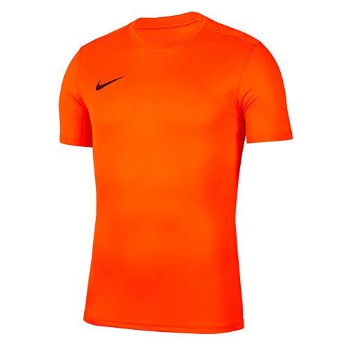 NIKE M Nk Dry Park VII JSY SS Camiseta de Manga Corta, Hombre, Naranja (Safety Orange/Black)
