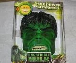 INCREDIBLE HULK POWER GLOW MASK - Eyes Light UP! (2008)