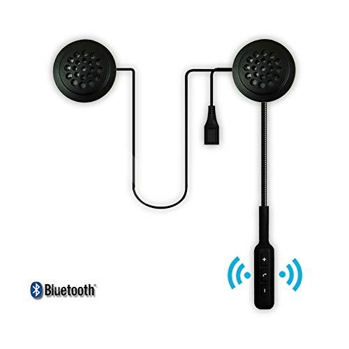 Ocamo FreundGeschenk, Kopfhörer,Motorrad Headset,Motor Wireless Bluetooth Headset Motorrad Helm Kopfhörer Kopfhörer Dual Stereo Lautsprecher Freisprecheinrichtung Musik für MP3 MP4 Telefon