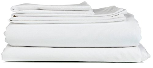 "Best Seller --100% Egyptian Cotton Luxury Hotel Collection ""Queen Size"" Bedding Sheet Set ( 4-PCs ) Solid White Color Fits Up to 15"" Deep Pocket Made By Plushy Linen ( 550 TC )"