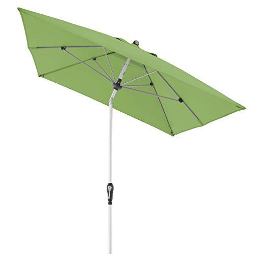 Doppler Aluminium Sonnenschirm SL-AZ, Rechteckiger Sonnenschutz für Balkon/Terrasse, Knickbar, Fresh Green, 190x290 cm