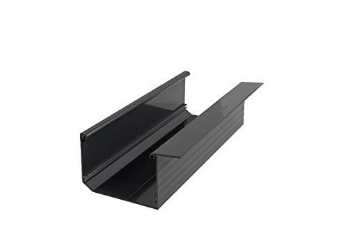 Regenrinne Dachrinne Terrasse Carport Aluminium Farbe: anthrazit | Länge: 5100mm