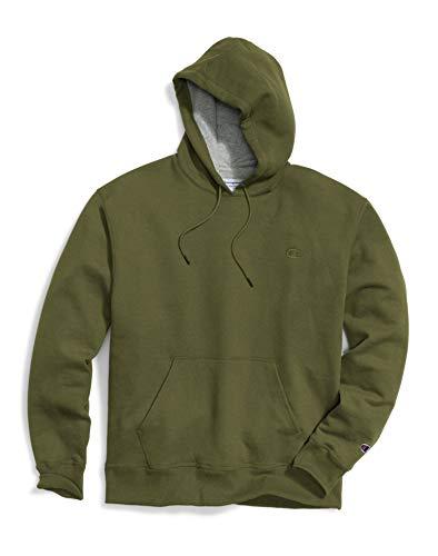 Champion Men's Powerblend Fleece Hoodie, Cargo Olive C, Large