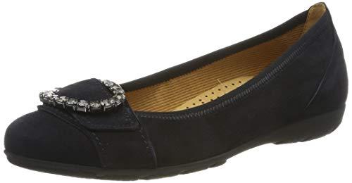 Gabor Shoes Damen Casual Geschlossene Ballerinas, Blau (Pazifik 16), 39 EU