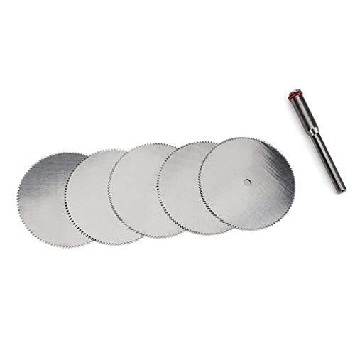 Scherp 32 mm roestvrij stalen schijf metalen slijpschijf met 1 mandrell Fit voor Dremel precisiegereedschap 5 stuks