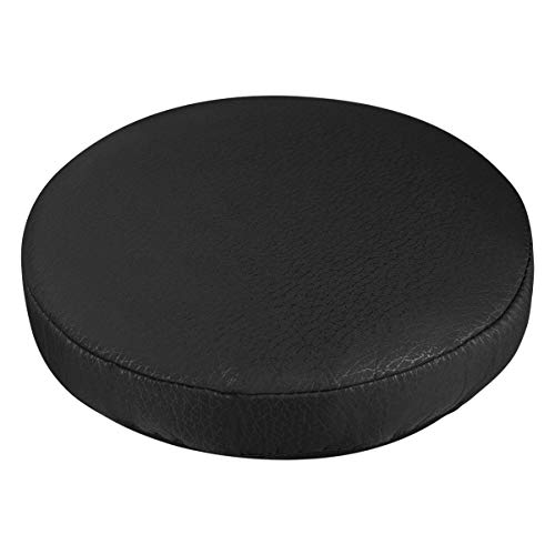 Vosarea Bar Stool Seat Cover Round Elastic Stool Chair Cover Black Thick Soft Barstool Cushion Cover Chair Protector for Home Shop, Diameter 30cm