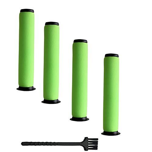 OHCFAN 4er-Pack waschbarer Schmutztonnen-Filter für Gtech AirRam Mk2 K9 Akku-Staubsauger, 22 V