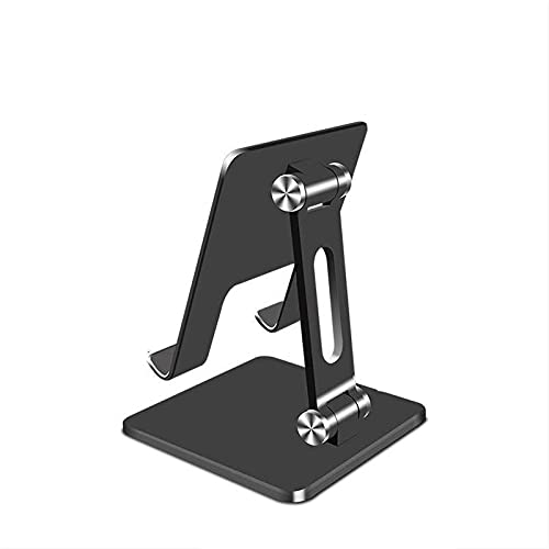 Kfhfhsdgsasjzj Soporte Movil Mesa, Tablet Phone Support Tablet Computer Soporte Metal Plegable Marco de Soporte (Color : Black)