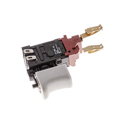 vhbw Schalter mit Taster passend für Kress 180 LIOS Bohrmaschine, Akkuschrauber; 18V / 25A grau