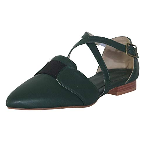 Read About Women Bellet Flats with Strap, Ladies Pointed Toe Slip-On Ballerina Flat Casual Low Heel ...