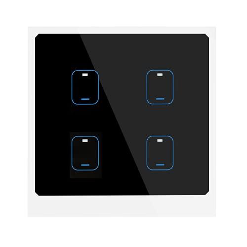 Interruptor De Atenuación Inteligente, Enchufe De La UE De 90-250 V, Moda, Alta Sensibilidad, 2,4 GHz, Interruptor De Luz Táctil Inteligente WiFi, Interruptor Inteligente Para Luces De