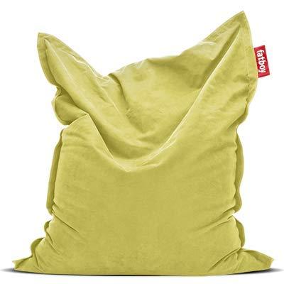 Fatboy Original Stonewashed limegrün Sitzsack | Klassischer Indoor Beanbag aus Baumwolle, Sitzkissen | 180 x 140 cm