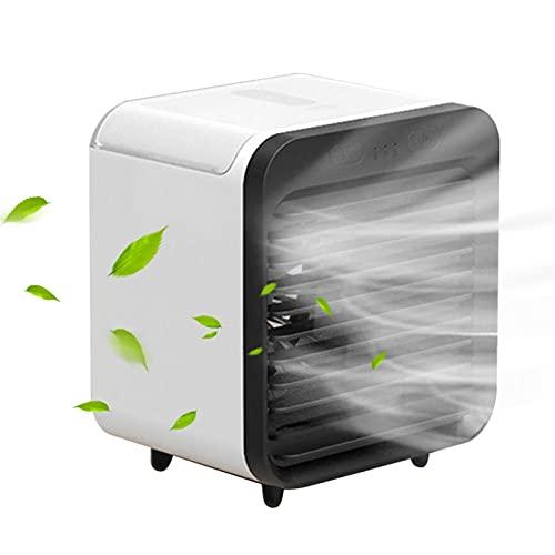 Ai-lir Klein en duurzaam Little Air Conditioner 200ml Airconditioner Ventilator Bevochtiging USB Draagbare Circulator Cooler Purifier Bescheiden Desktop Blower voor Kantoor Slaapkamer Draagbare Airco