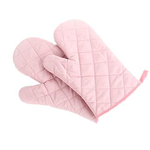 Voarge Ofenhandschuhe, Hitzebeständig Ofenhandschuhe Verdickte Hitzeresistente Topfhandschuhe Topflappen Backhandschuhe, 1 Paar rosa