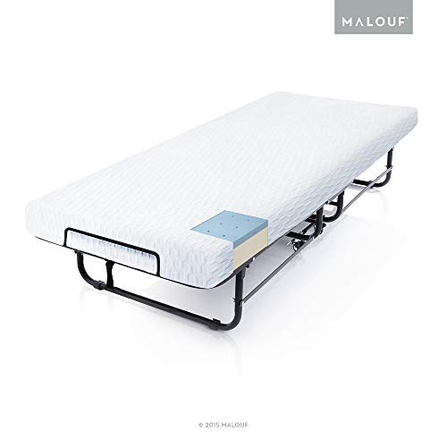 STRUCTURES Rollaway Folding Guest Bed with Premium Gel Memory Foam Mattress - Cot Size