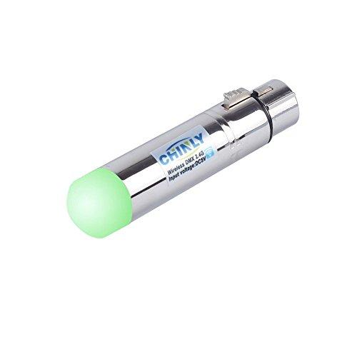 CHINLY 2.4G ISM DMX512 transmisor/receptor XLR macho/hembra con antena para cabezas iluminación principal móvil