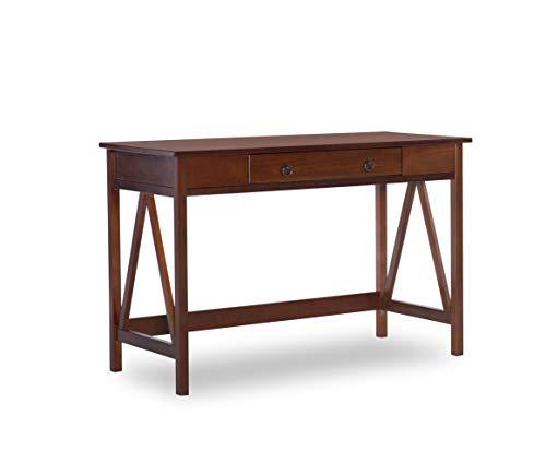 """Linon Home Dcor Linon Home Decor Antique Tobacco Titian, 45.98"""" x 20"""" x 30"""" Desk,"""
