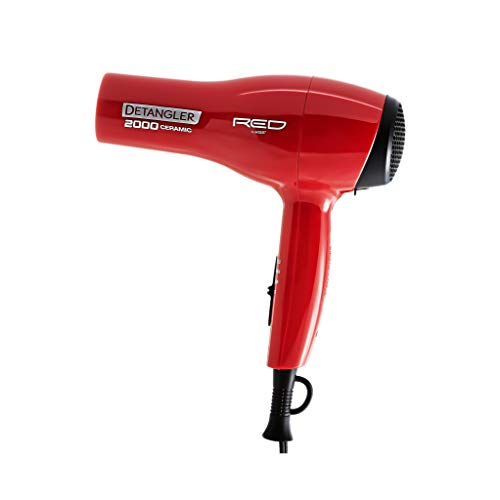 Kiss Products Red Detangler Dryer Plus 3 Attachments, 1.75 Pound (Hair Dryer)