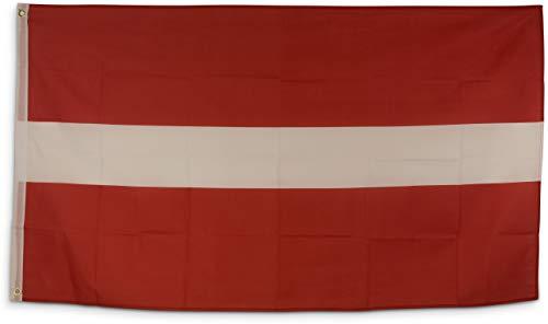 SCAMODA Bundes- und Länderflagge aus wetterfestem Material mit Metallösen (Lettland) 150x90cm