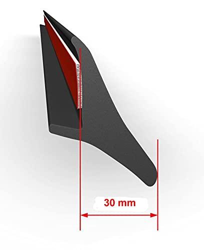 4x universelle Kotflügelverbreiterung 30mm Breit - 200 cm lang passend für PKW, Pickup, Wohnmobil, SUV, Transporter Gummilippe Verbreiterung