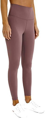 Chaos World Sporthose Damen High Waist Sport Leggings Elastische Tummy Control Yogahose Jogginghosen (Grau Rot,L/Tag 10)