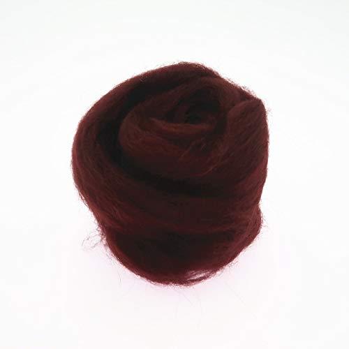 Qitao Wollfilz 86 Farben 5g / 10g / 20g / 50g / 100g Filzwolle-Filz Stoff Filz Craft Spielzeug Filzwolle Handgemachte Filzen Craft (Color : 30, Size : 50g)